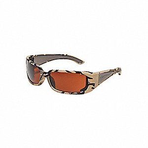V-Line Plus Uncoated Safety Glasses, Brown Lens Color