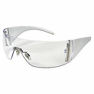 W100 Scratch-Resistant Safety Glasses, Clear Lens Color