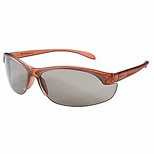 W200 Scratch-Resistant Safety Glasses, TSR Gray Lens Color