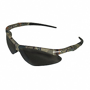 Jackson Safety V30 Nemesis Anti-Fog, Scratch-Resistant Safety Glasses, Smoke Lens Color