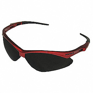 Jackson Safety V30 Nemesis Scratch-Resistant Safety Glasses, Smoke Lens Color
