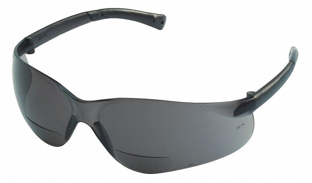Eyeglass Frame Inventory Management : MCR SAFETY Gray Scratch-Resistant Bifocal Safety Reading ...