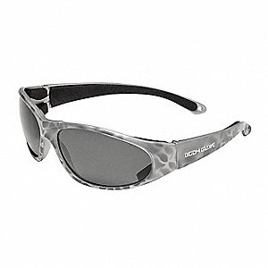 Traffic-Signal Safe IR Scratch-Resistant Safety Glasses, Gray Lens Color