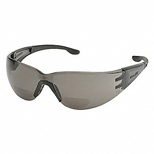 Bifocal Safety Read Glasses,+1.50,Gray