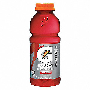 Fruit Punch Ready to Drink Sports Drink, Package Size: 20 oz., 24 PK