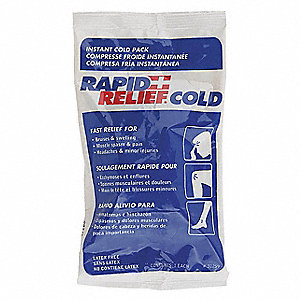 "9"" x 5"" White/Blue Instant Cold Pack, 1EA"