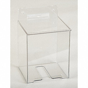 "4-3/4"" x 4-1/2"" x 7"" PETG Hairnet Dispenser, Clear"