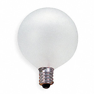 60 Watts Incandescent Lamp, G16-1/2, Candelabra Screw (E12), 530 Lumens