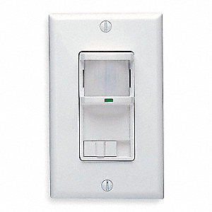 Occupancy Sensor, Sensor Type: Passive Infrared, Installation Type: Wall, 400 sq. ft. Coverage