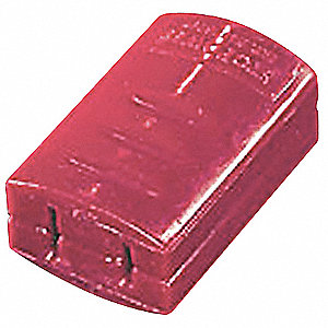 "Plug Lockout, Red, 3/4""H x 1-3/4""L x 1-1/4""W"
