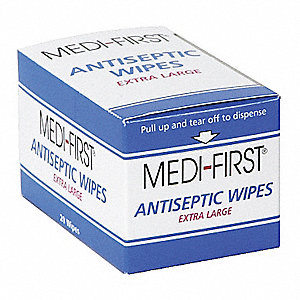 "Antiseptic Wipes, 5"" x 8"" Packet"