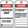 Safety and Lock Out Tags