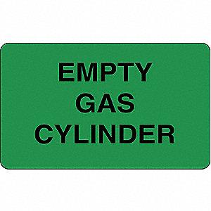 LABEL EMPTY GAS CYL