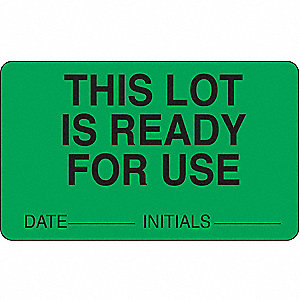 LABORATORY LABEL,2-1/2 IN. W,PK 100