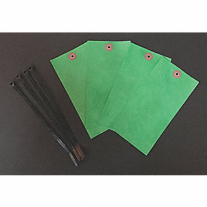"Blank Tag, Green, Height: 6-1/4"" x Width: 3-1/8"", 100 PK"