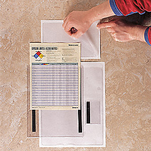 Document Holder,Clr,2x3-1/2 In,Mag,PK50
