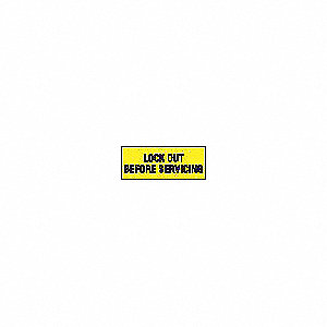 Lockout Label,2-1/4 In. H,PK5