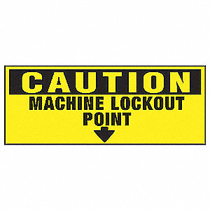 Lockout Label,2-1/4 In. H,PK2
