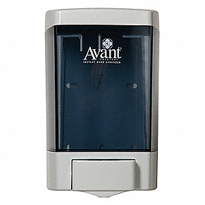 Avant 46 oz. Manual Gel, Liquid Hand Sanitizer Dispenser, Wall-Mount, Gray