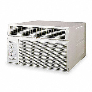 208/230 Window Air Conditioner w/Heat, Cool Gray, Includes: Washable, Antimicrobial Filter For Prote
