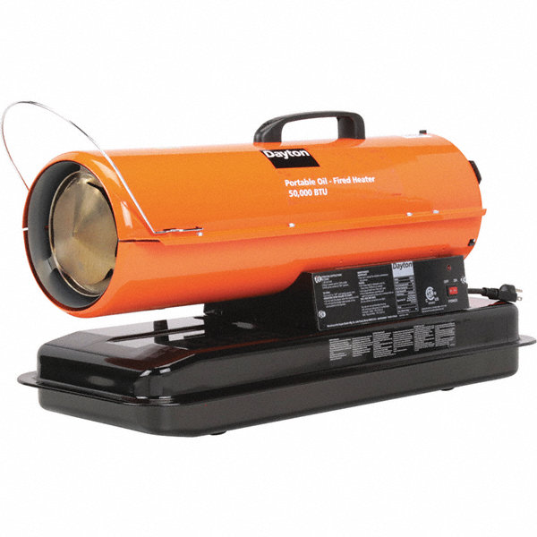 Dayton Oil Fired Torpedo Heater 5 0 Gal 0 35 Gph Btuh