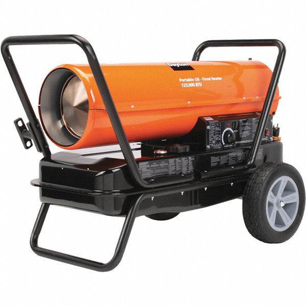 Dayton Oil Fired Torpedo Heater 10 Gal 0 95 Gph Btuh