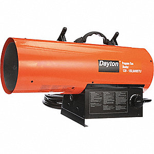 "25-1/2"" x 11-7/8"" x 16-1/8"" Torpedo Portable Gas Heater with 3500 sq. ft. Heating Area"