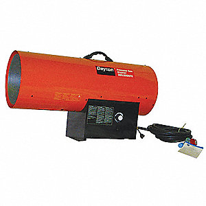 "33-5/8"" x 12-5/8"" x 18-1/2"" Torpedo Portable Gas Heater with 7000 sq. ft. Heating Area"