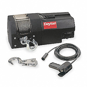 Electric Winch,1-4/5HP,12VDC