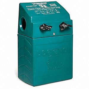 10 gal. Rectangle Green Pet Waste Container