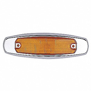 Clearance Light,LED,Amber,Oval,6-1/4 L