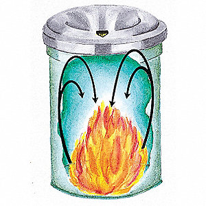 6 gal. Round Gray Fire-Safe Trash Can