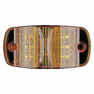 Amber Clearance Marker Light, J592e, P2, PC, Permanent, Oval