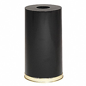 "Metallic 15 gal. Round Open Top Decorative Trash Can, 28""H, Black"