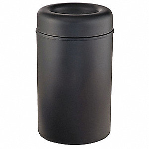 Trash Can,Round,30 gal.,Black