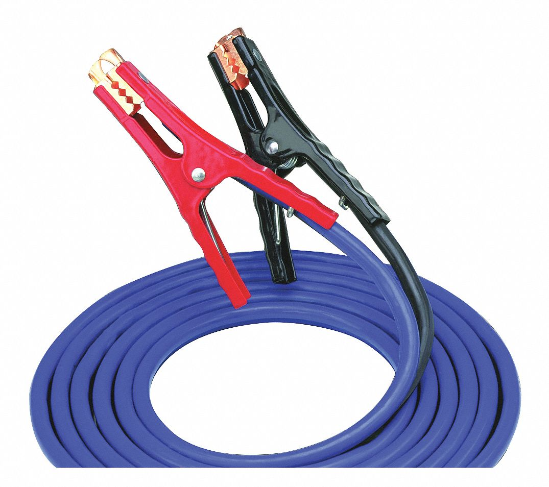 16 ft. Parrot Jaws Booster Cables, Black, Blue