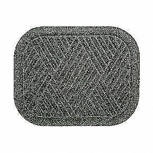 "17.75"" x 14"" Rear Mat Set of 2, Charcoal"