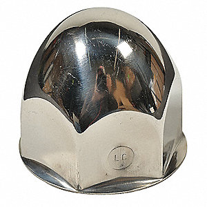 Lug Nut Cover,1 5/8 In,Stainless Steel