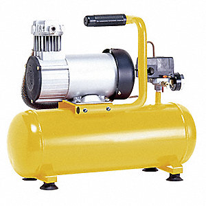 3/4 HP, 12VDC, 3 gal. Portable Electric Oil-Free Air Compressor, 120 psi