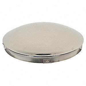 Hub Cap, Dolly, Stainless Steel, 8""