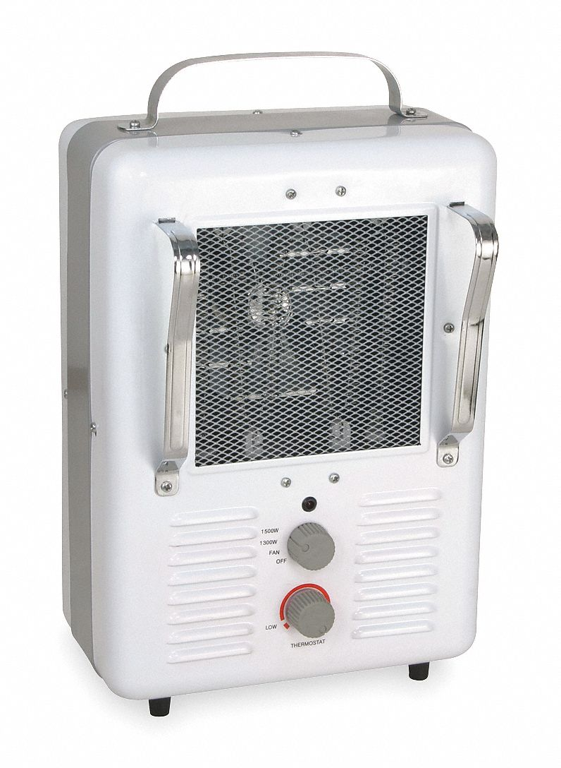 Portable Electric Jobsite & Garage Heater,  1.3kW/1.5kW,  120V AC, 1-phase,  5-15P