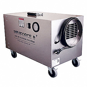 HEPA Negative Air Machine, 1/5 HP, 115 Voltage, 3.2 Amps, 350 to 425 cfm