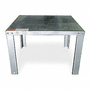 14-Gauge Galvanized Steel Water Heater Stand, For Use With: Tanks Up to 50 Gallons