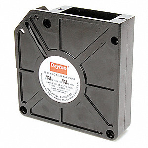 "Square Axial Fan, 4-3/4"" Width, 4-3/4"" Height, 115VAC Voltage"