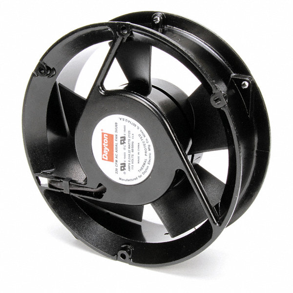 Small Axial Fans : Dayton round axial fan quot dia vac voltage