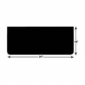 "12"" x 24"" Rubber   Mud Flaps, Black"