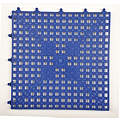 Interlocking Drainage Mat, Vinyl, Blue, 12