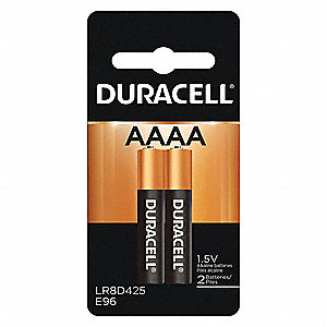 AAAA Standard Battery, CopperTop, Alkaline, PK2