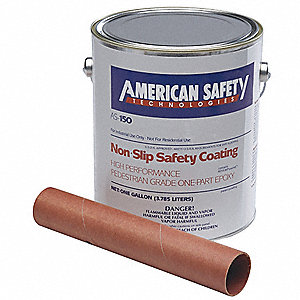 Matte Epoxy Anti-Slip Floor Coating, Tile Red, 5 gal.