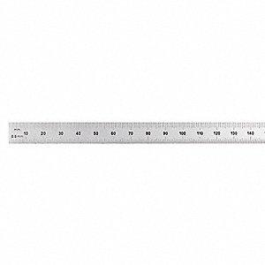 GENERAL CF1247ME Flexible Steel Rule,12 In,SAE//Metric